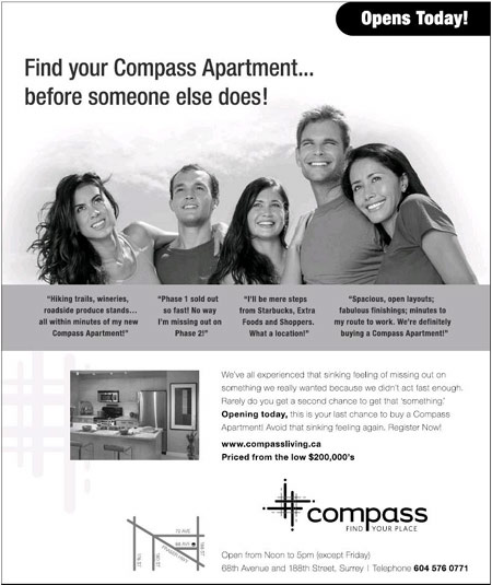 Advertisement for Compass - Cloverdale, BC